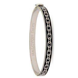Halcyon days SKINNY CHAIN BLACK & PALLADIUM BANGLE